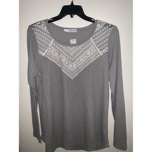 Maurices Long Sleeve Tee with Lace